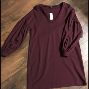 Brand new Express wine colored dress